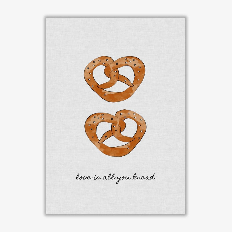 Love is all you knead fine art print by orara studio, framed kitchen wall art