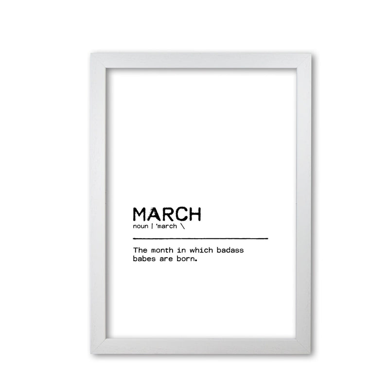 March badass definition quote fine art print by orara studio