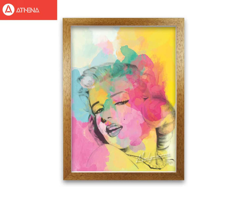 Marilyn monroe in colour modern fine art print