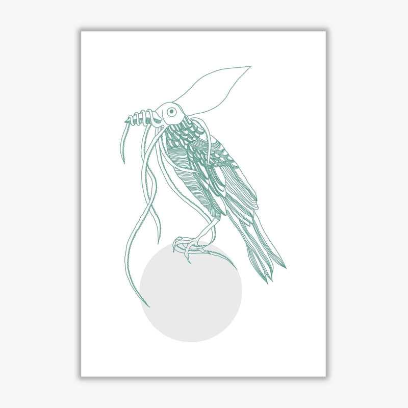 Marine animals bird modern fine art print