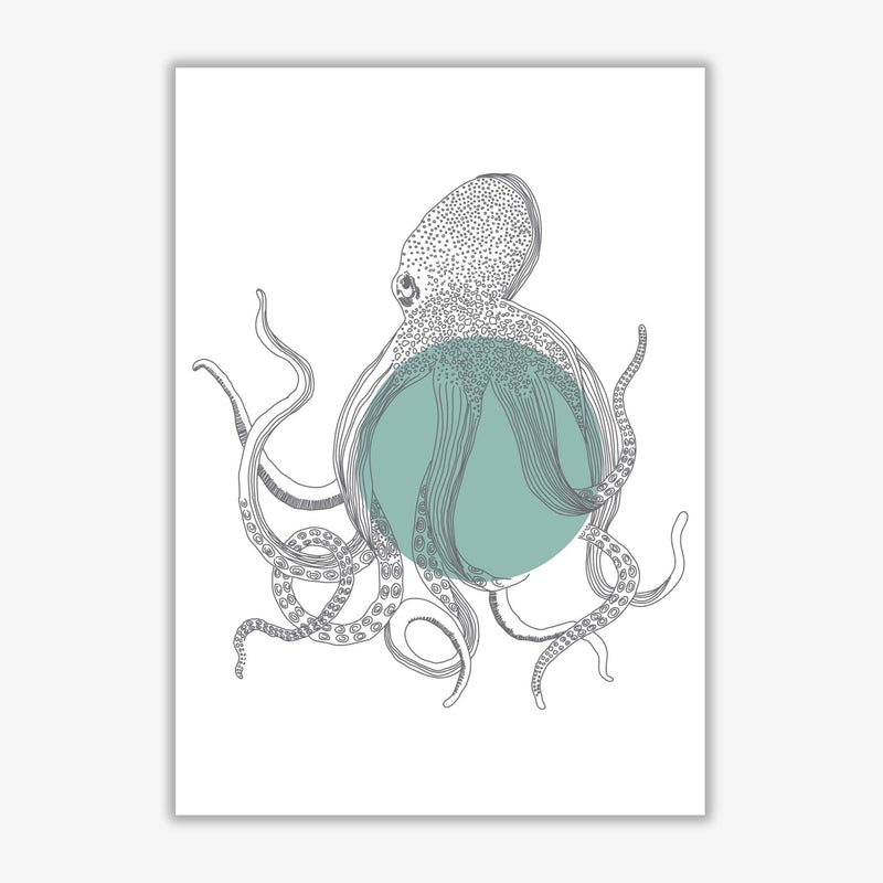 Marine animals octopus modern fine art print
