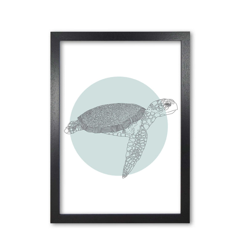 Marine animals turtle modern fine art print