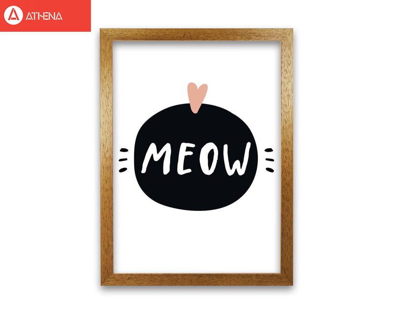 Meow modern fine art print, framed typography wall art