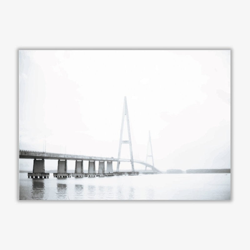 Minimal grey bridge modern fine art print