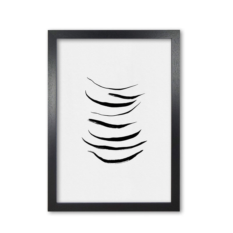 Minimalist black painting i fine art print by orara studio