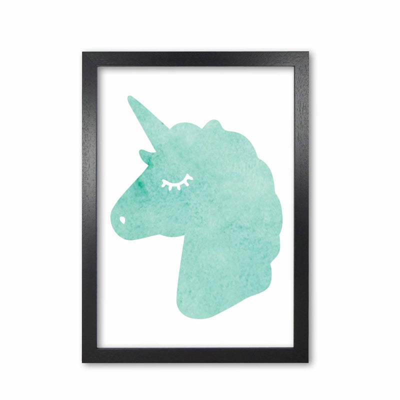 Mint unicorn head modern fine art print