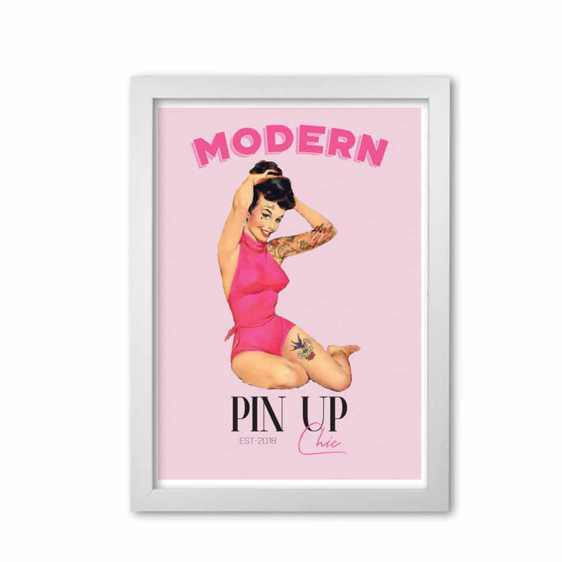 Modern pin up girl modern fine art print