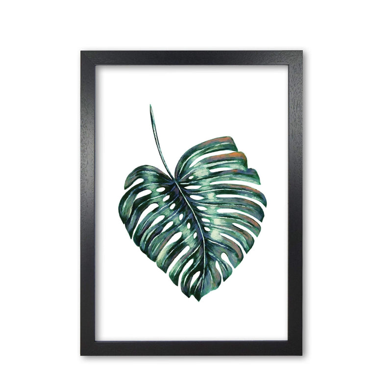 Monstera leaf full modern fine art print, framed botanical &