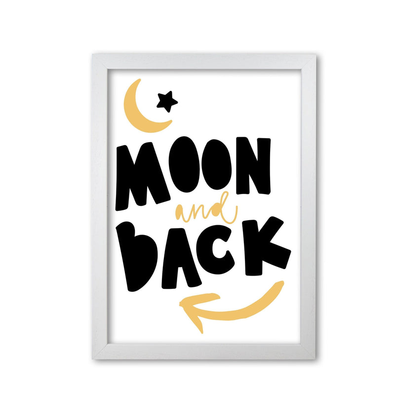 Moon and back mustard and black modern fine art print, framed typography wall art