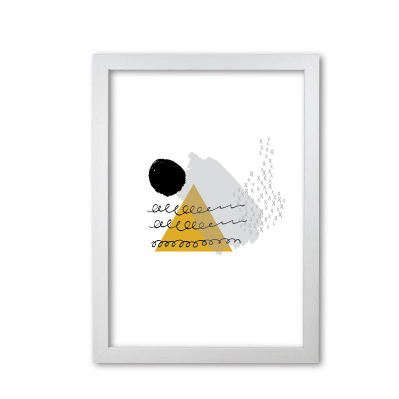 Mustard and black mountain sun abstract modern fine art print
