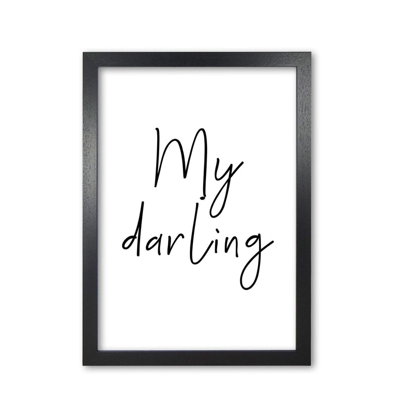 My darling modern fine art print, framed typography wall art