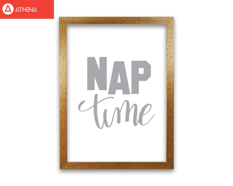Nap time grey modern fine art print, framed typography wall art