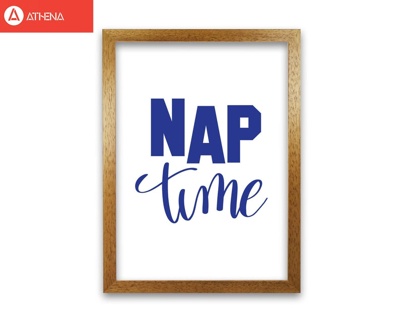 Nap time navy modern fine art print, framed typography wall art
