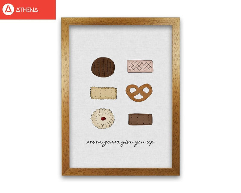 Never gonna give you up fine art print by orara studio, framed kitchen wall art
