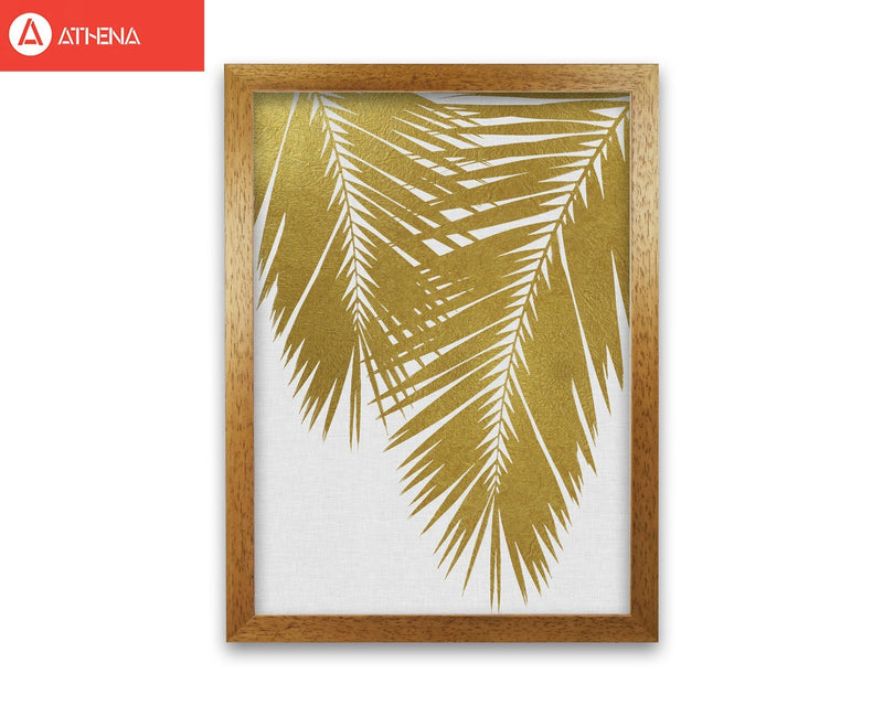 Palm leaf gold ii fine art print by orara studio, framed botanical &