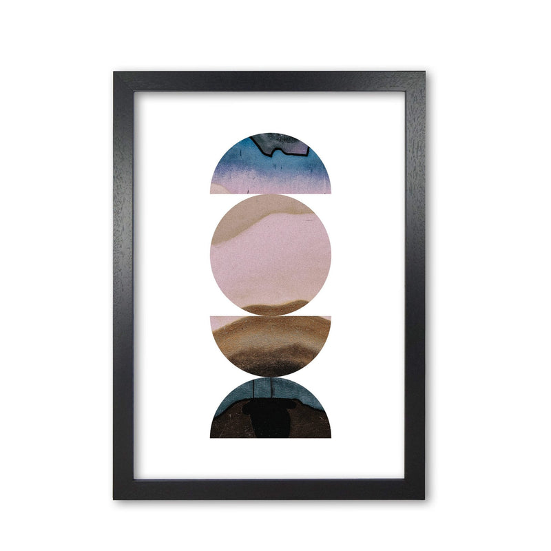 Pastel and sand abstract circles modern fine art print