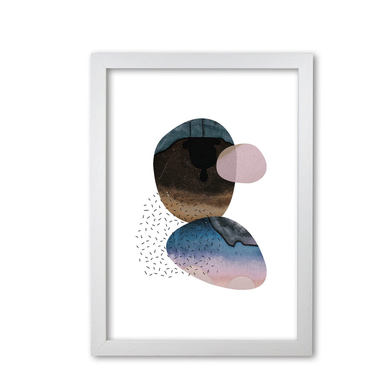 Pastel and sand abstract shapes modern fine art print