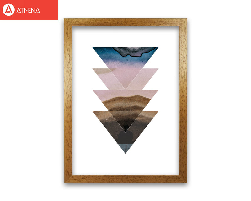 Pastel and sand abstract triangles modern fine art print