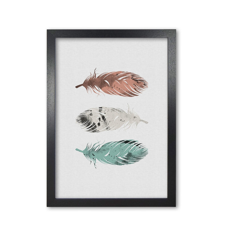 Pastel feathers fine art print by orara studio, framed botanical &