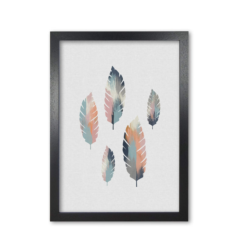 Pastel leaves fine art print by orara studio, framed botanical &