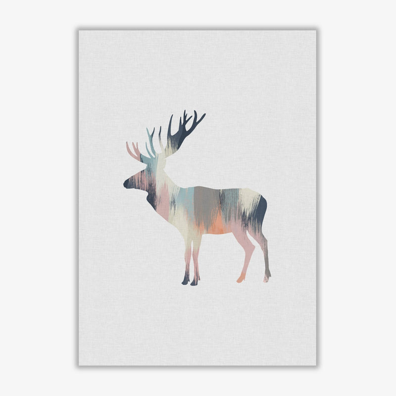 Pastel moose fine art print by orara studio
