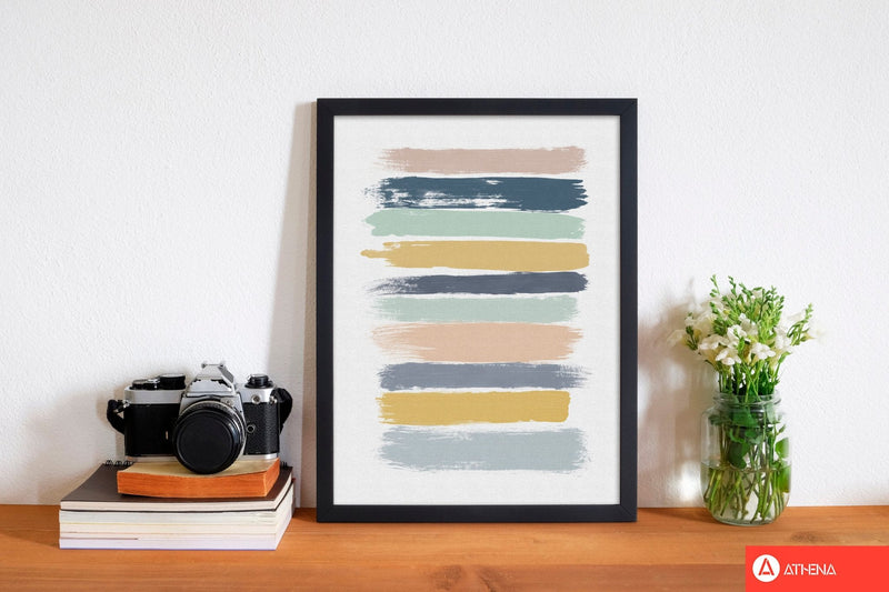 Pastel stripes fine art print by orara studio
