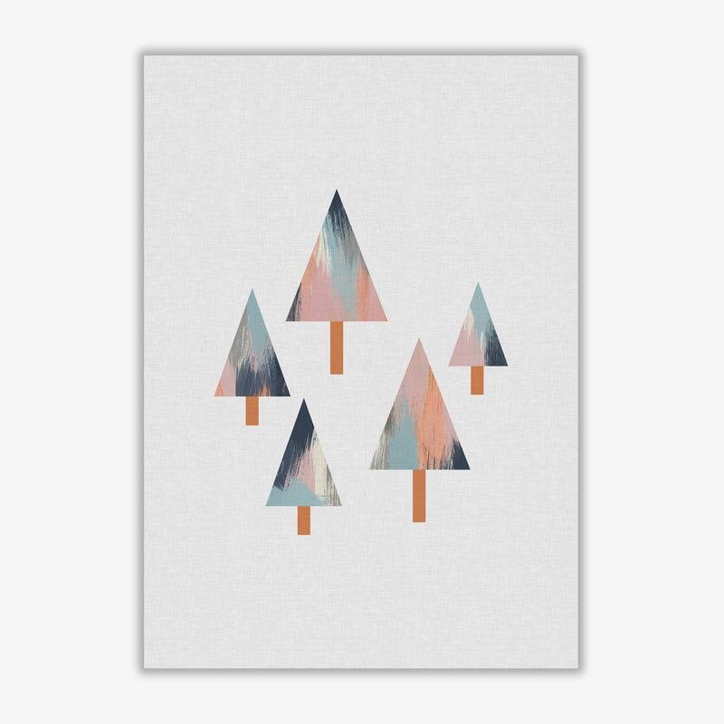 Pastel trees fine art print by orara studio, framed botanical &