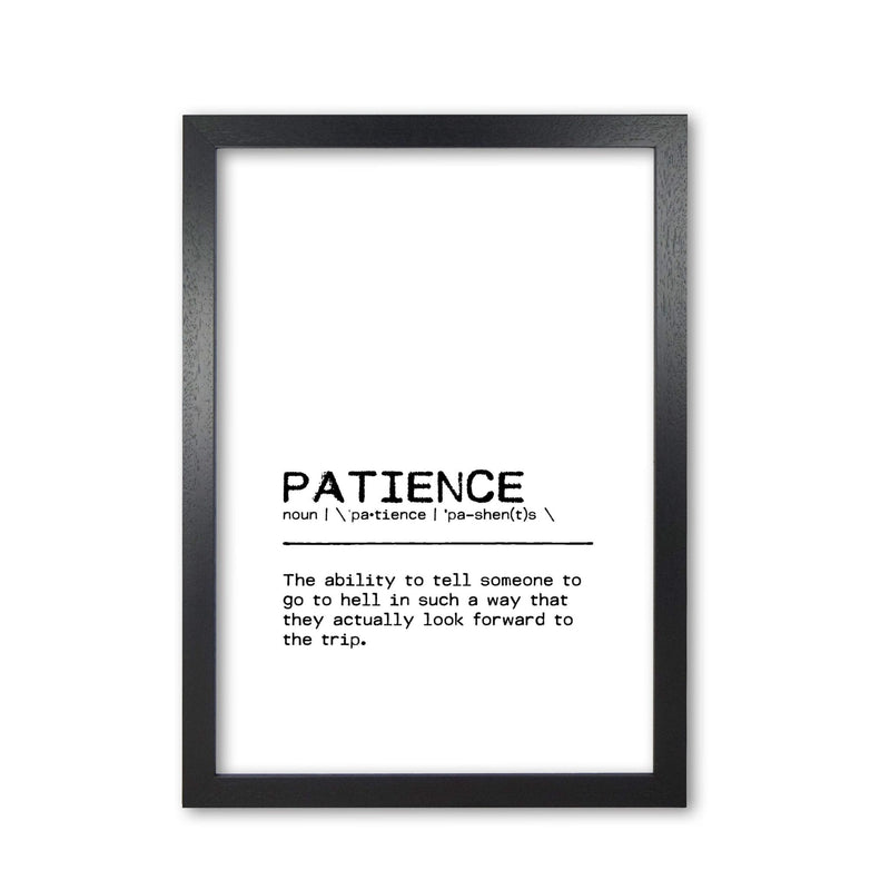 Patience hell definition quote fine art print by orara studio