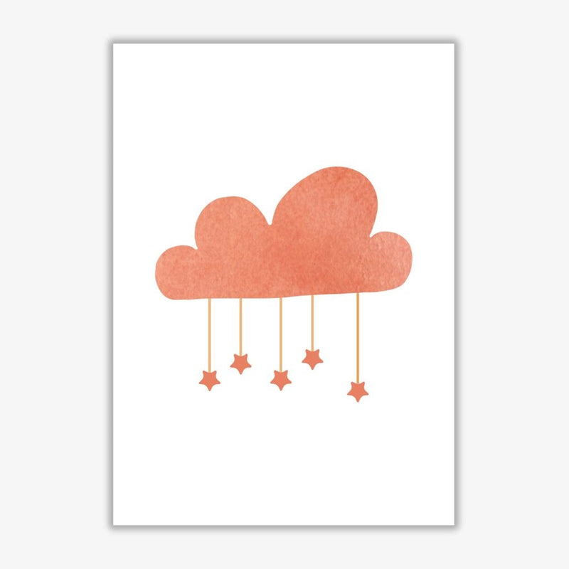 Peach cloud watercolour modern fine art print