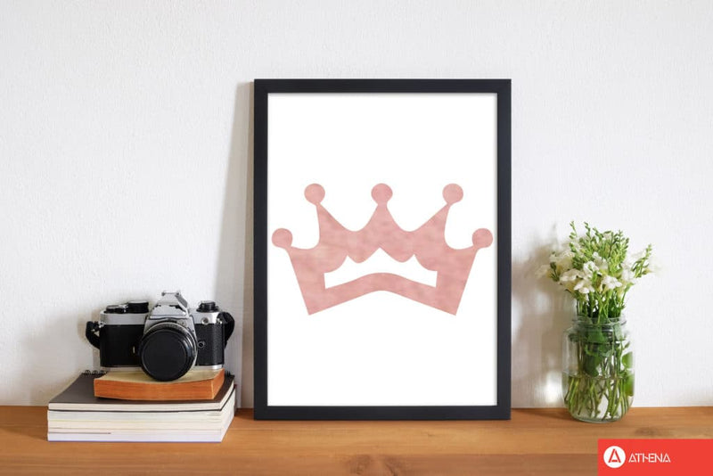 Peach crown watercolour modern fine art print