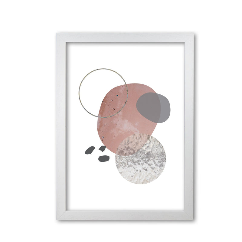 Peach, sand and glass abstract shapes modern fine art print