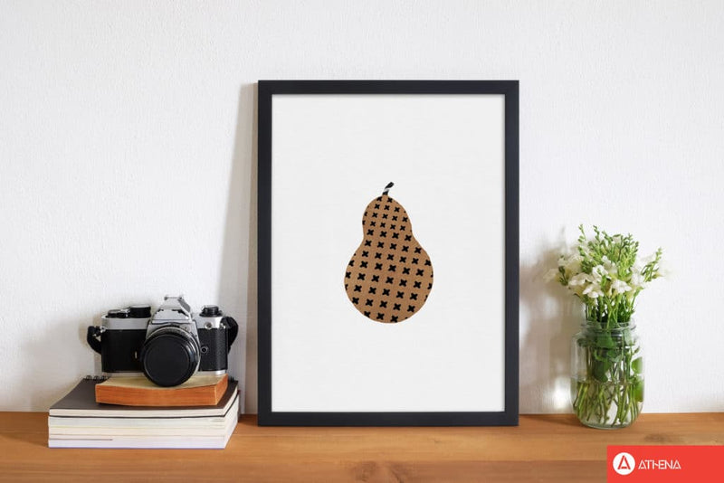 Pear fruit illustration fine art print by orara studio, framed kitchen wall art