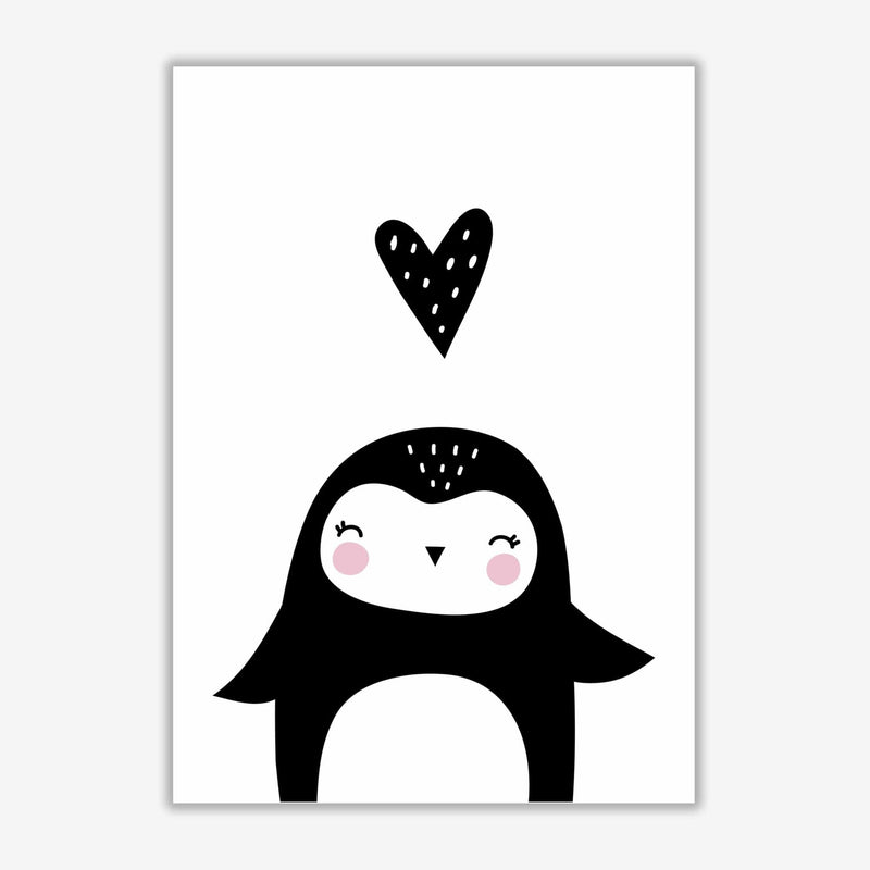 Penguin and heart modern fine art print