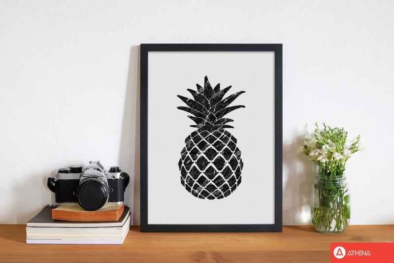 Pineapple marble fine art print by orara studio, framed kitchen wall art