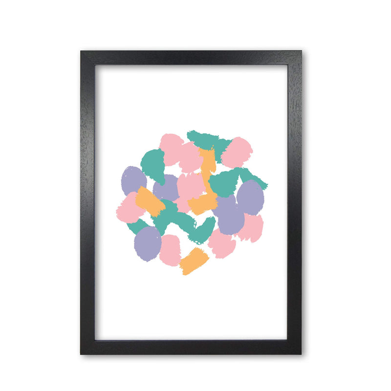 Pink abstract paint splodge modern fine art print