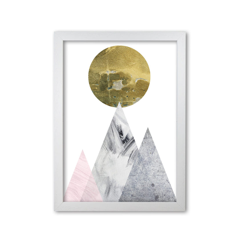 Pink and grey mountains abstract modern fine art print