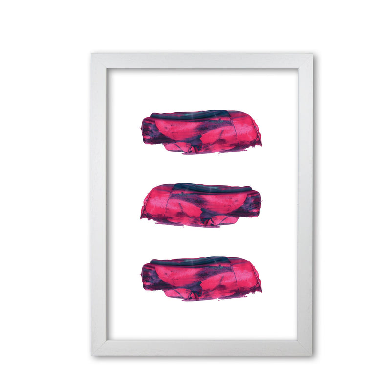 Pink and purple abstract paint strokes modern fine art print