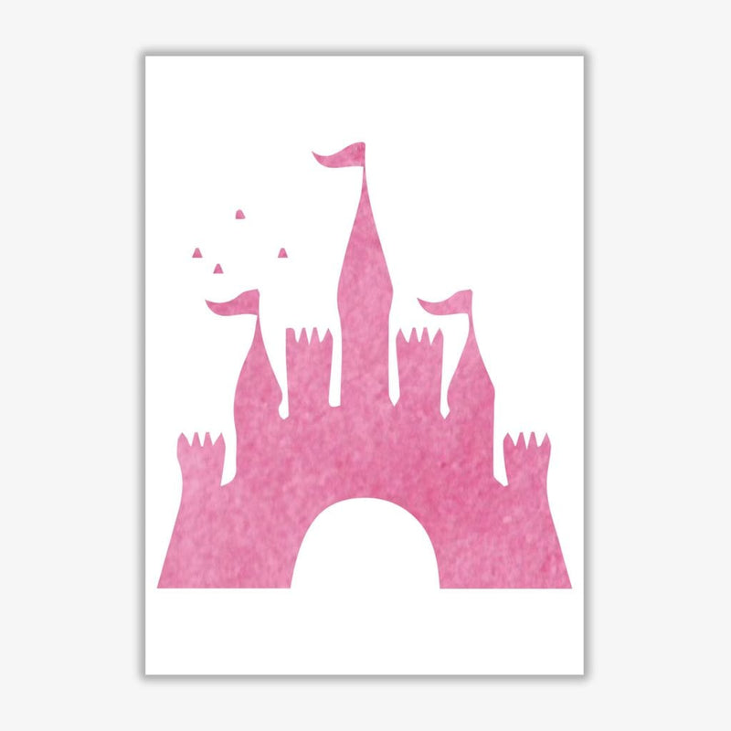 Pink castle watercolour modern fine art print