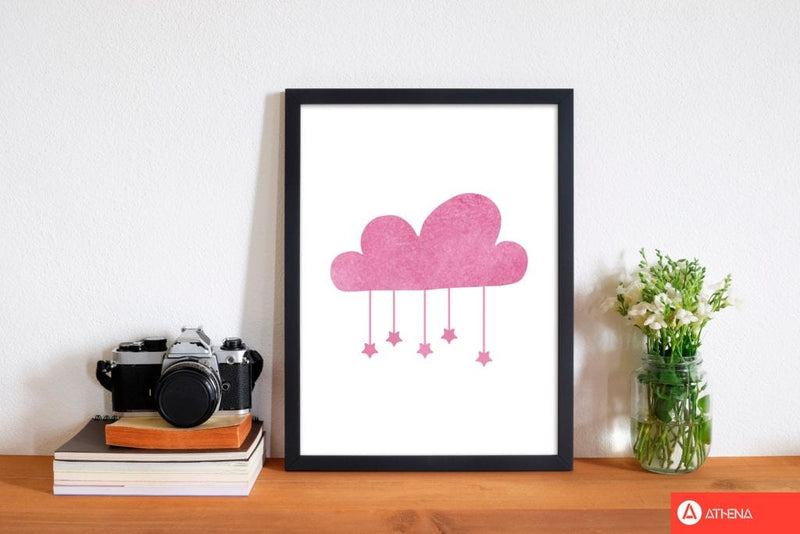 Pink cloud watercolour modern fine art print