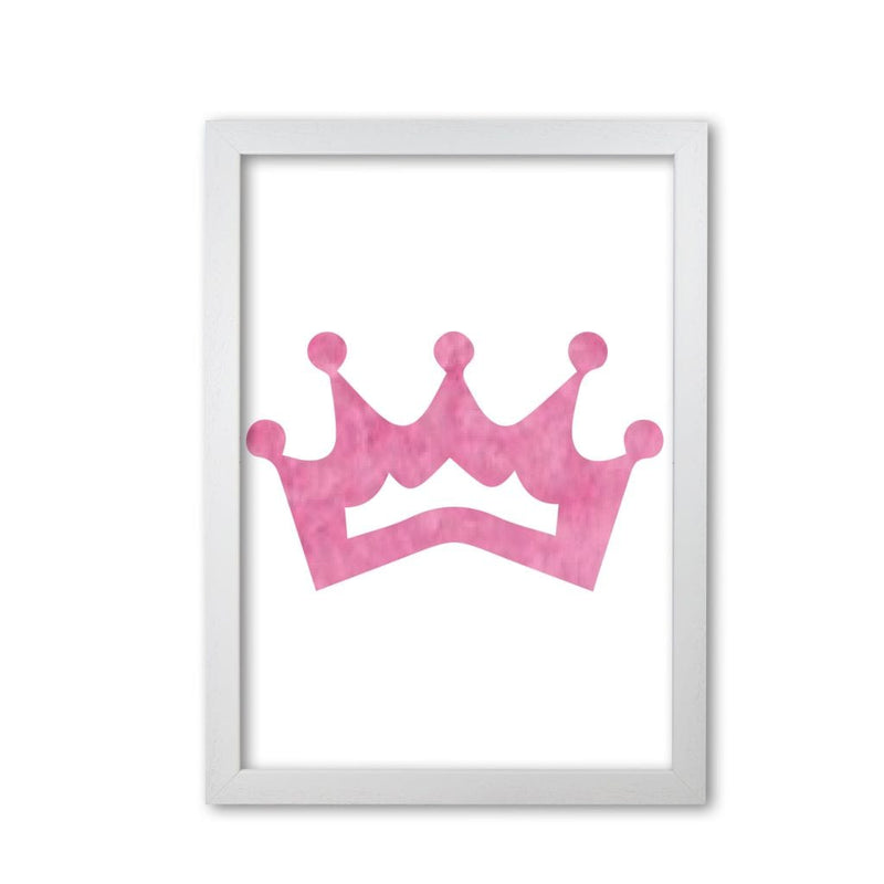 Pink crown watercolour modern fine art print