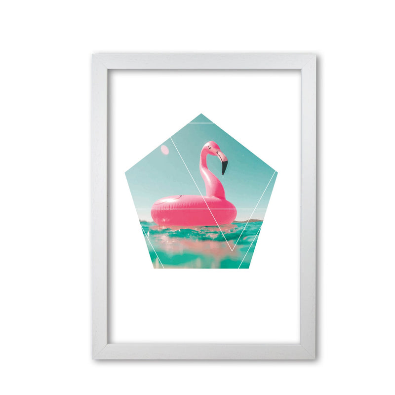 Pink flamingo inflatable modern fine art print