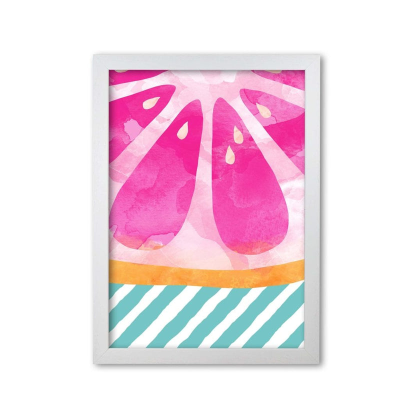 Pink grapefruit abstract fine art print by orara studio, framed kitchen wall art