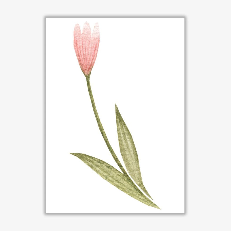 Pink watercolour flower 3 modern fine art print