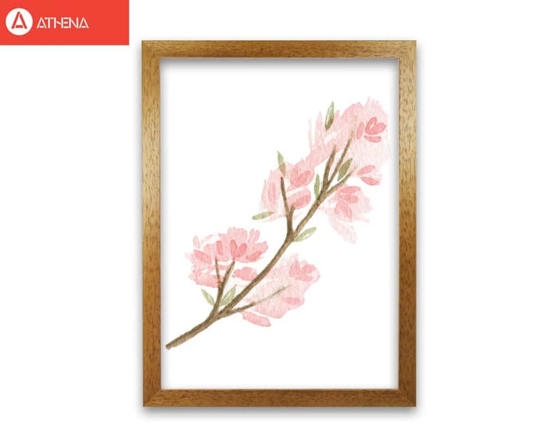 Pink watercolour flower 4 modern fine art print