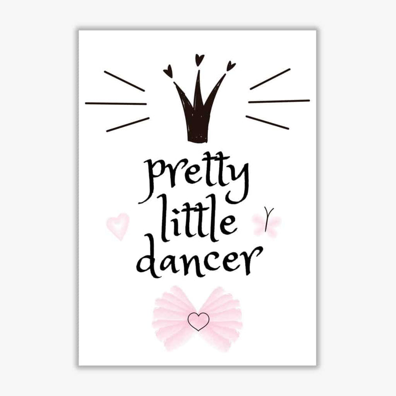 Pretty little dancer modern fine art print, framed childrens nursey wall art poster
