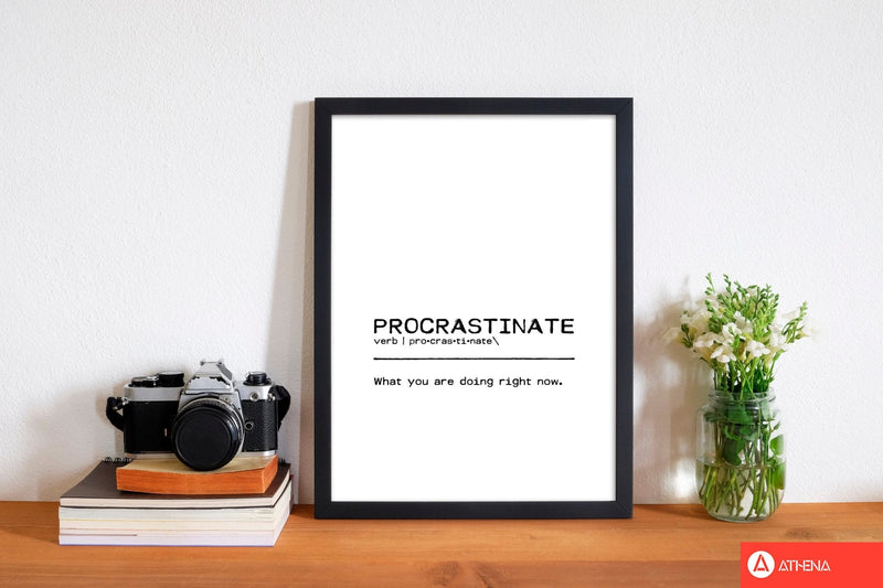 Procrastinate now definition quote fine art print by orara studio