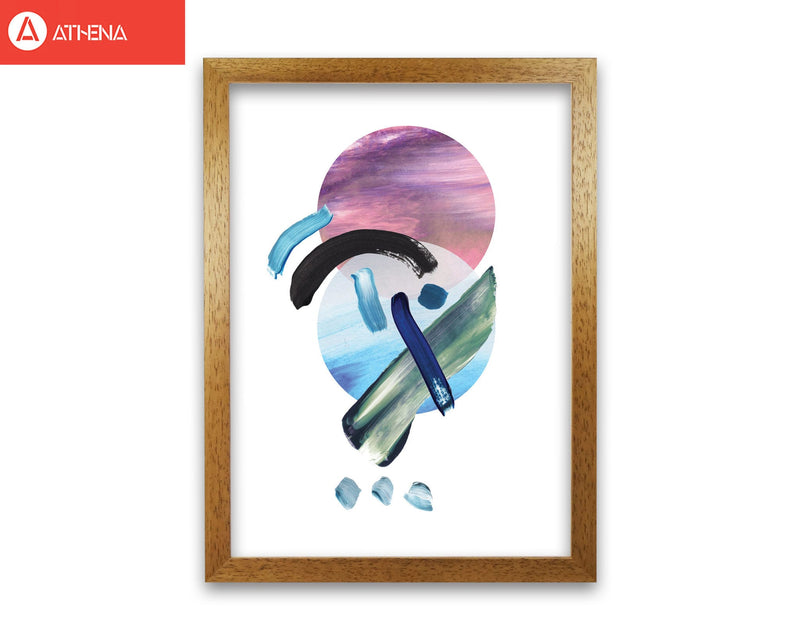 Purple and blue mixed watercolour abstract modern fine art print