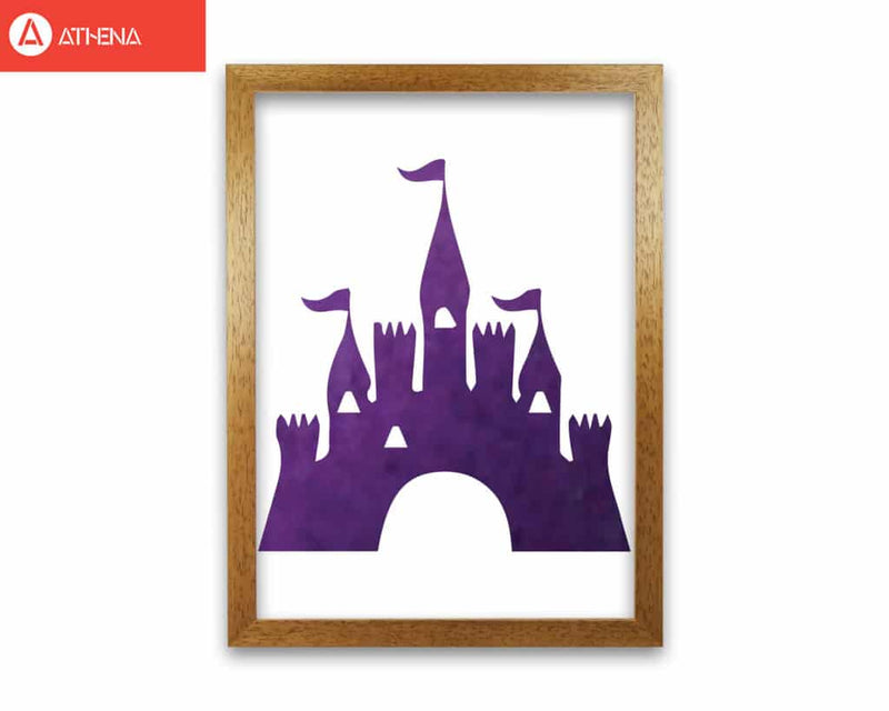 Purple castle watercolour modern fine art print