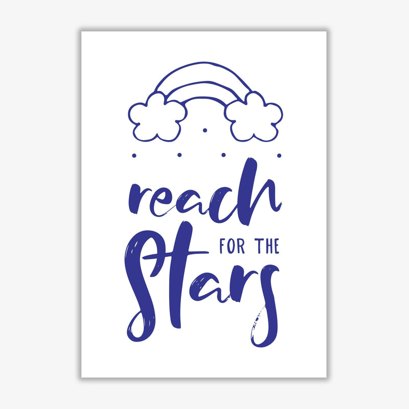 Reach for the stars navy modern fine art print