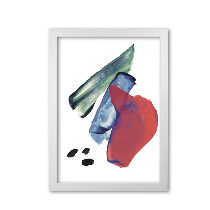 Red and blue mixed watercolour abstract modern fine art print
